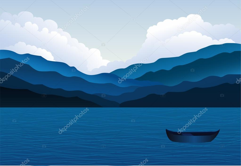 Mountains and Sea Landscape
