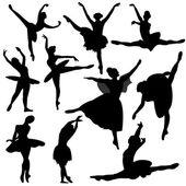Fényképek balett, balerina sziluett