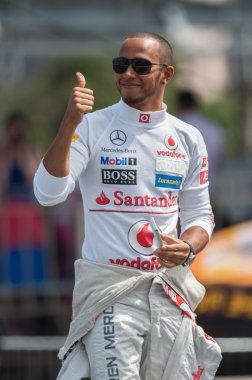 Lewis Hamilton of McLaren Mercedes at Moscow City Racing 2012