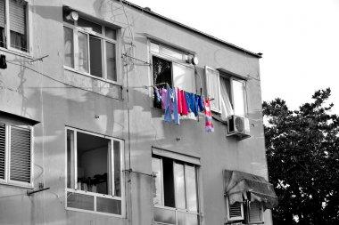 building of slums