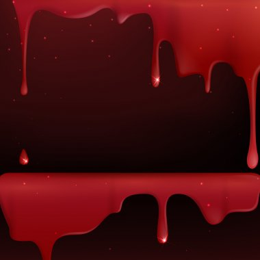 Dripping blood.