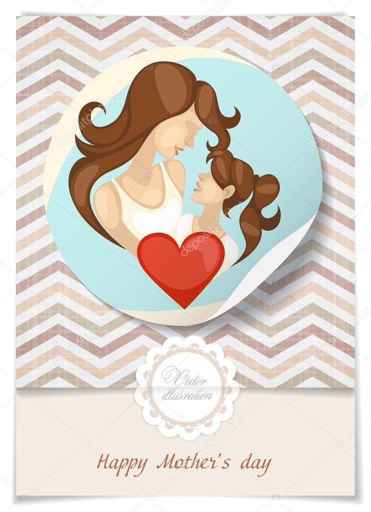День матери стикер открытка, майле днем рождения