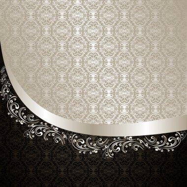 Luxury Background: silver and black.