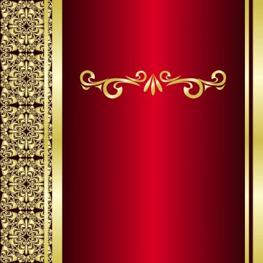 Luxury Background decorated are golden borders.