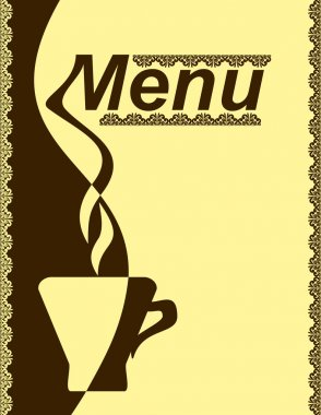 Menu design for a cafe.