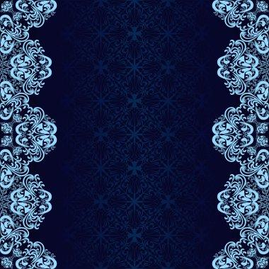 Luxury dark blue Background decorated a blue border.