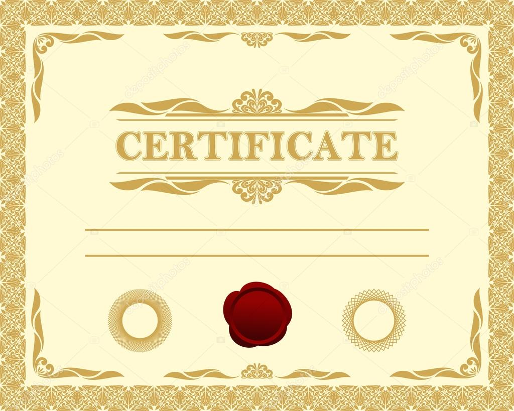 Certificate Template Stock Vector 169 Natali123457 20250057