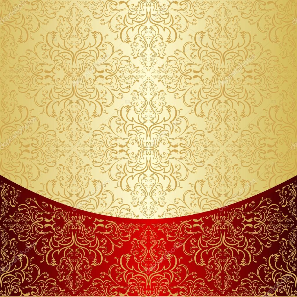 Luxury Background decorated a gold pattern — Stock Vector ...
