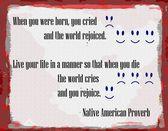 Indianische Sprichwort Leben  Tod