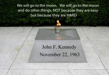 JFK quote on going to the moon