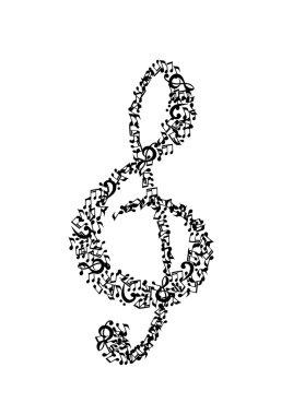 Musical illustration. Treble clef