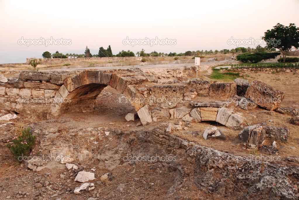 Hierapolis, pamukkale, Törökország közelében — Stock Fotó © twins #37985155
