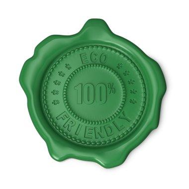 Green wax seal