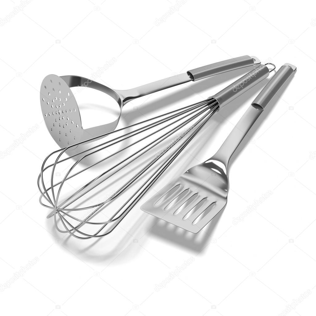 utensilios de cocina de acero inoxidable — Foto de stock ...
