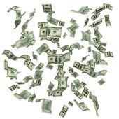 Fotografie Cloud of flying hundred dollar bills