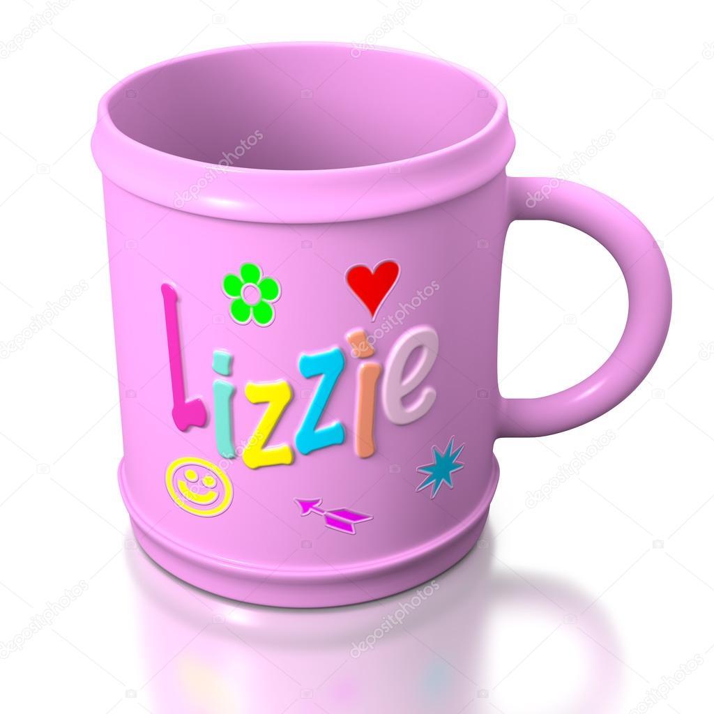 mug en plastique personnalis de lizzie photographie billdayonedp 26176457. Black Bedroom Furniture Sets. Home Design Ideas