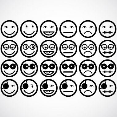 Smile face icons.