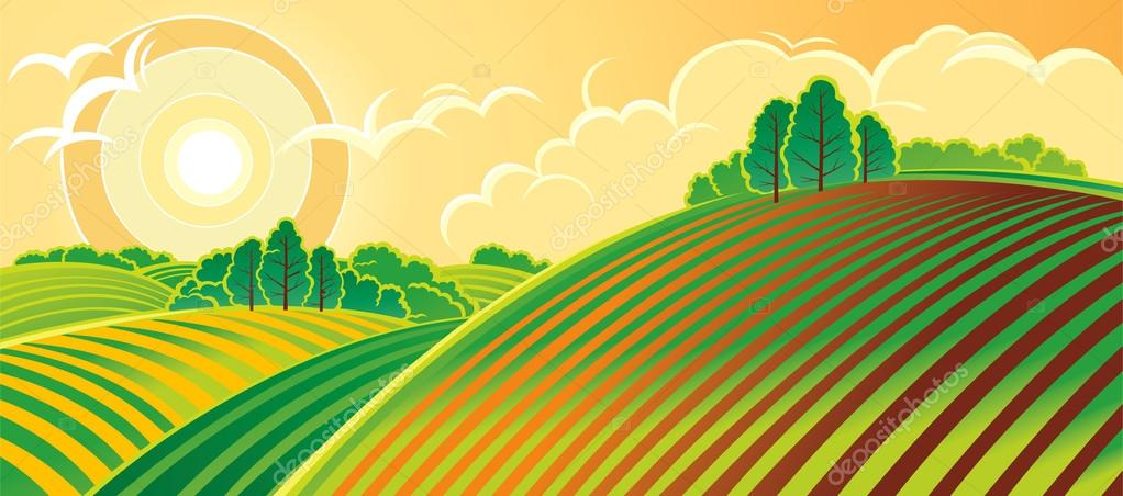 Spring country landscape