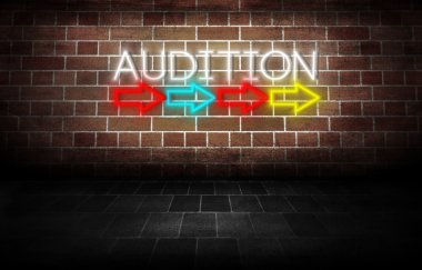 Audition Neon Sign direction