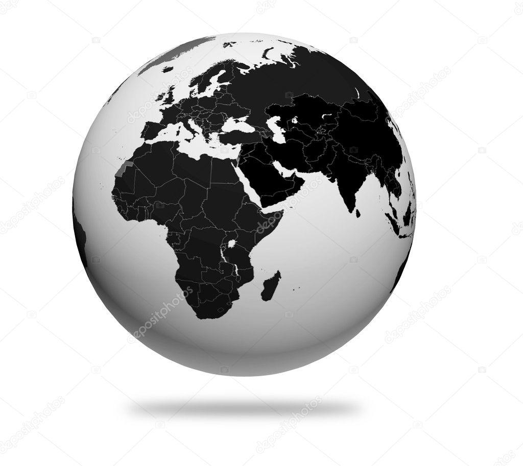 Bianco E Nero Belle Immagini Per: Immagini: Globo Stilizzato Bianco E Nero