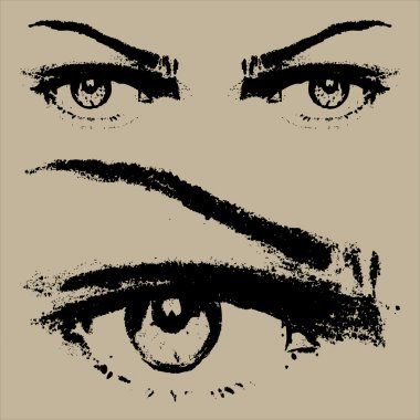 Eye Sketch vector close-up
