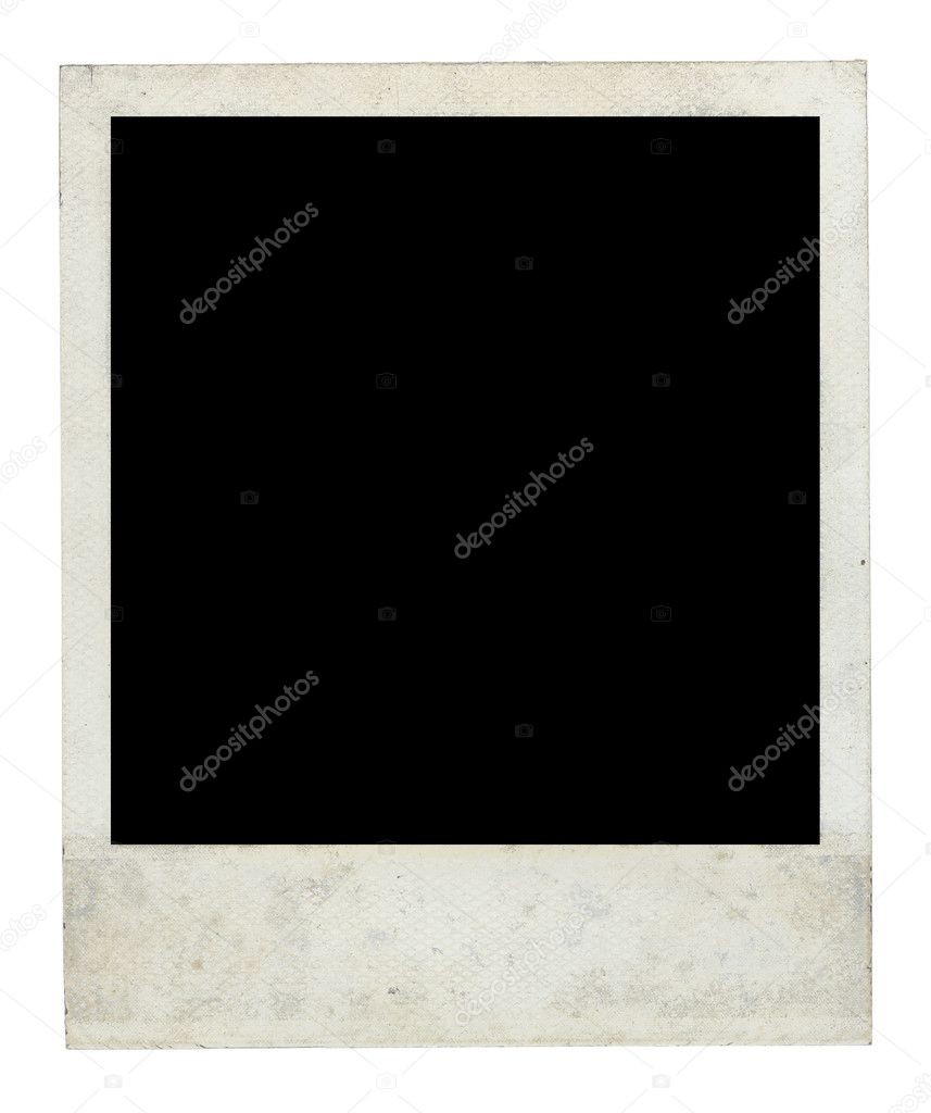 Old Dirty Polaroid Frame Front Side with Clipping Path — Stock Photo ...