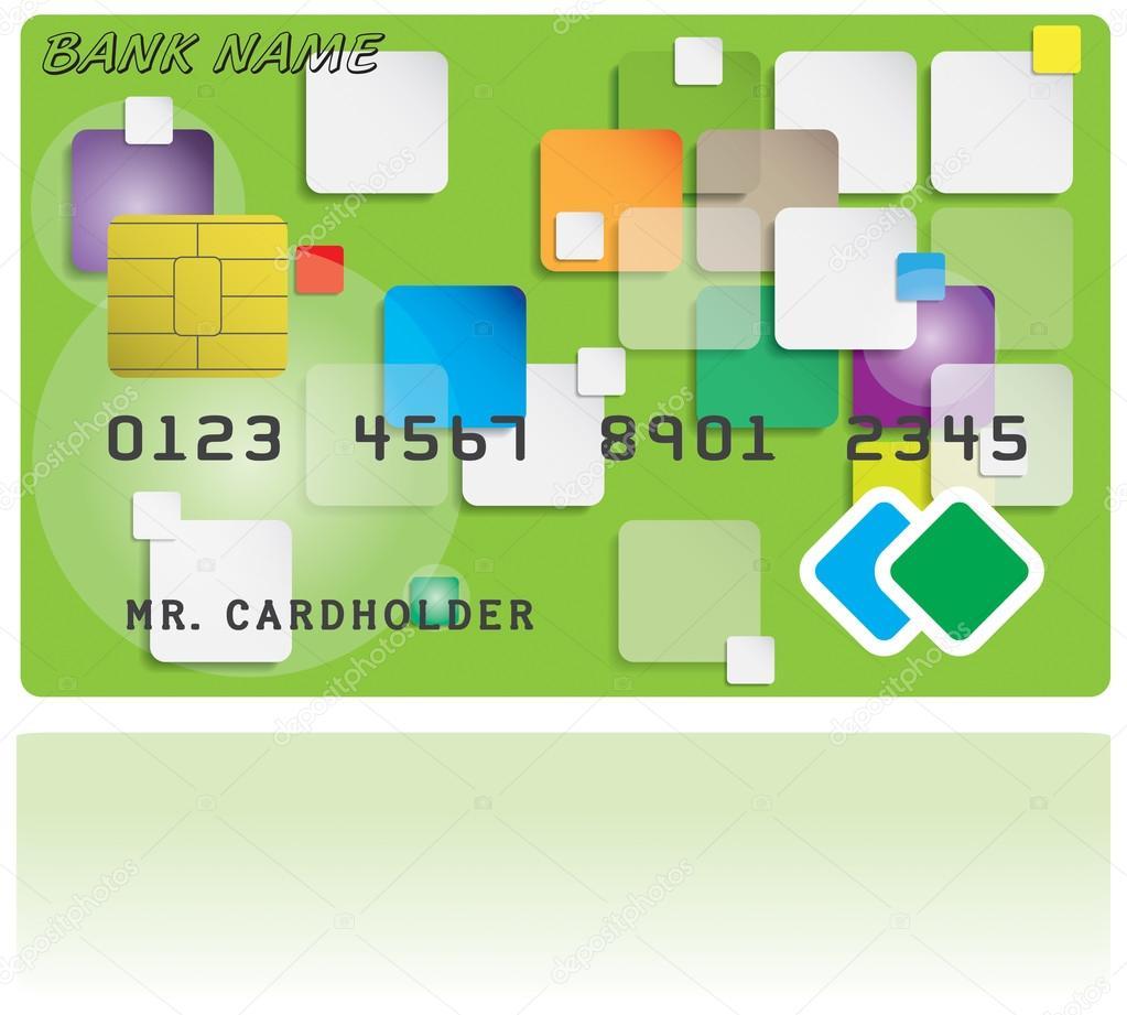 クレジット カードのパターン — ストックベクタ