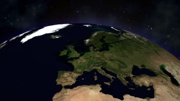Full-HD-Video von der Landung auf der Erde im All