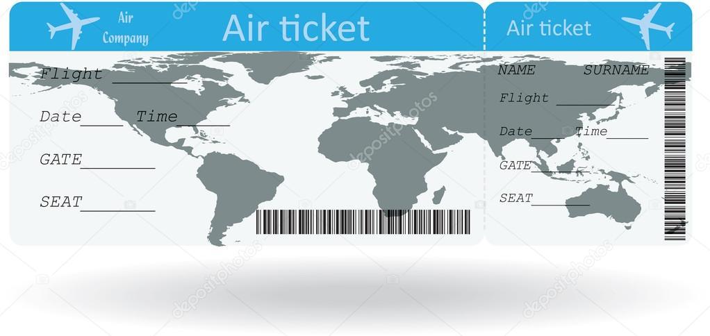 Variante de boleto aéreo — Archivo Imágenes Vectoriales © orelphoto2 ...