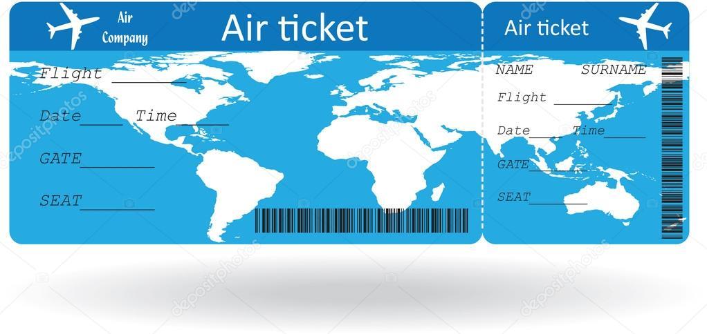 Variante de boleto aéreo — Vector de stock © orelphoto2 #47814465