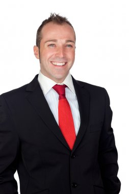 Young businessman with red tie