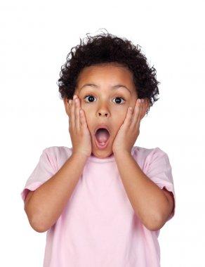 Surprised latin child