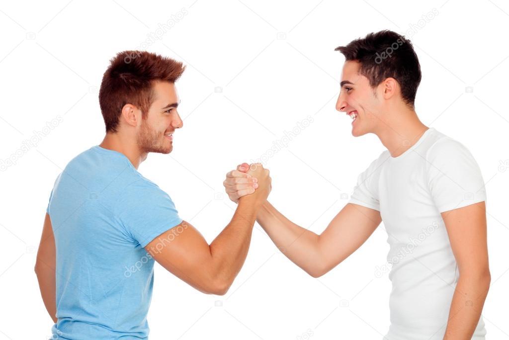 Знакомого старого сон рукопожатие