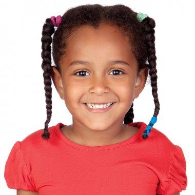 Happy little african girl
