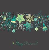 Fényképek Karácsonyi üdvözlőlap-karácsony fa, hópelyhek és dekoráció
