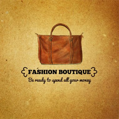 Vintage template for fashion boutiques and shops
