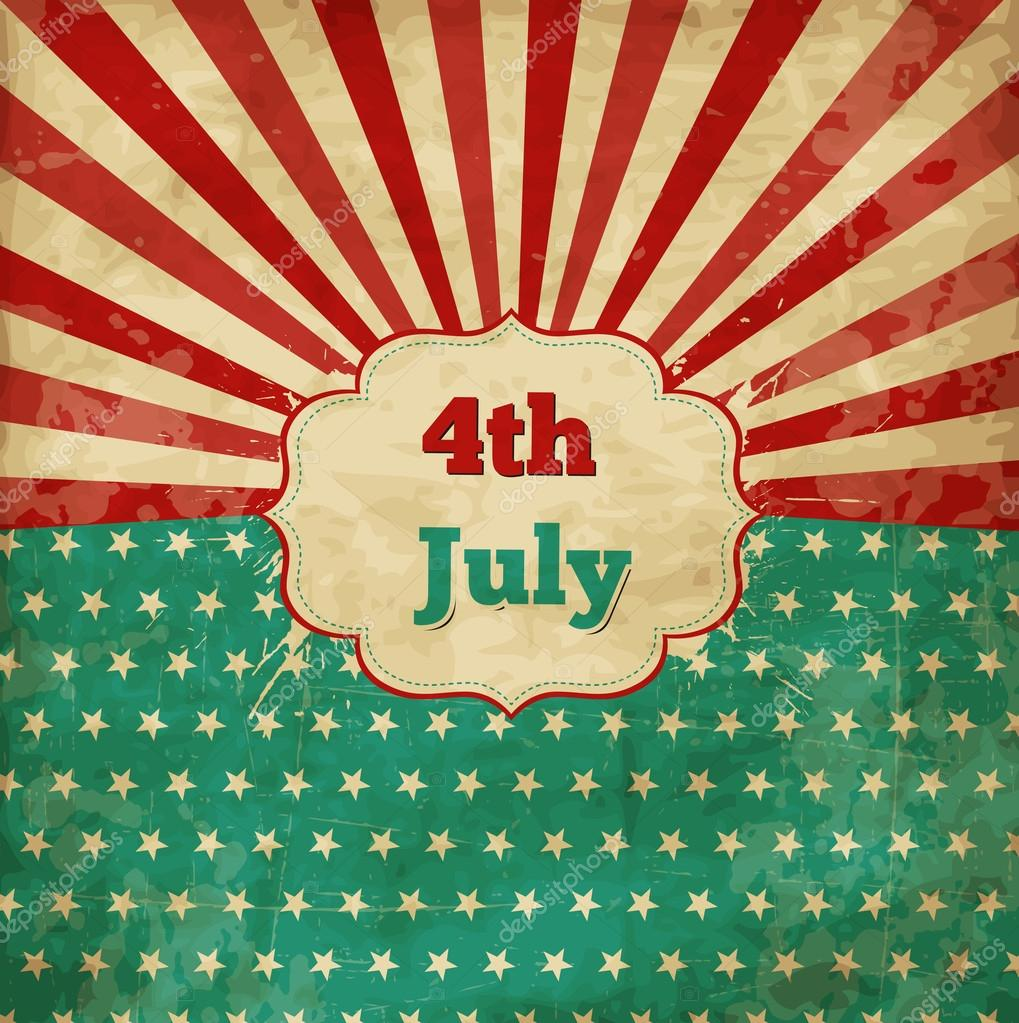 be838aa49e83c6 Vintage template for 4th of July