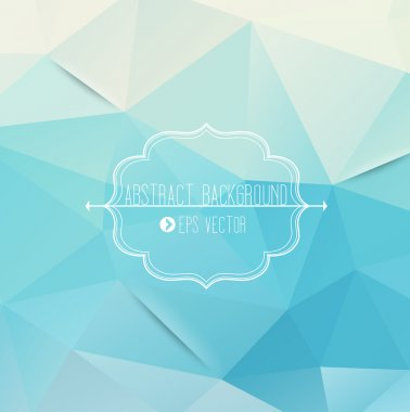 Abstract geometric blue background