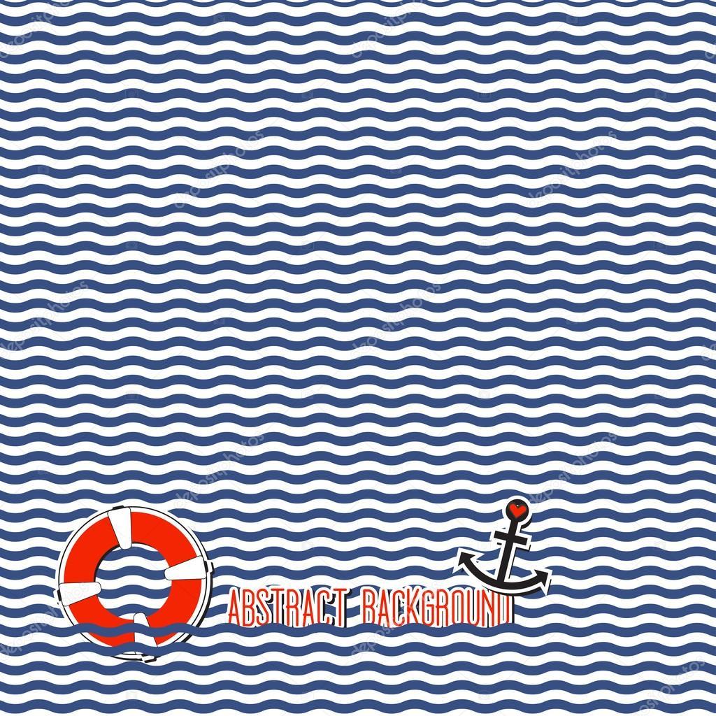 Wavy marine background