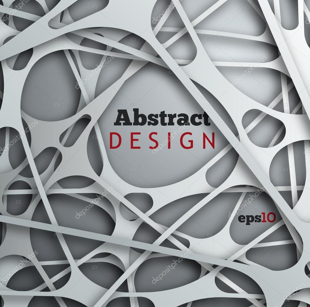 Abstract 3D paper design