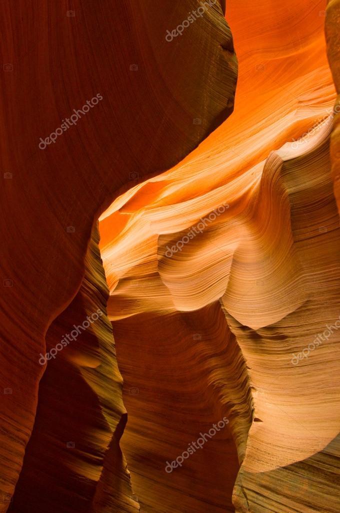 Abstact shapes of Antelope Canyon, Arizona, USA
