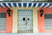 Türen des kolonialen Gebäude in Cartagena, Kolumbien