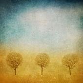 Photo Trees over grunge background