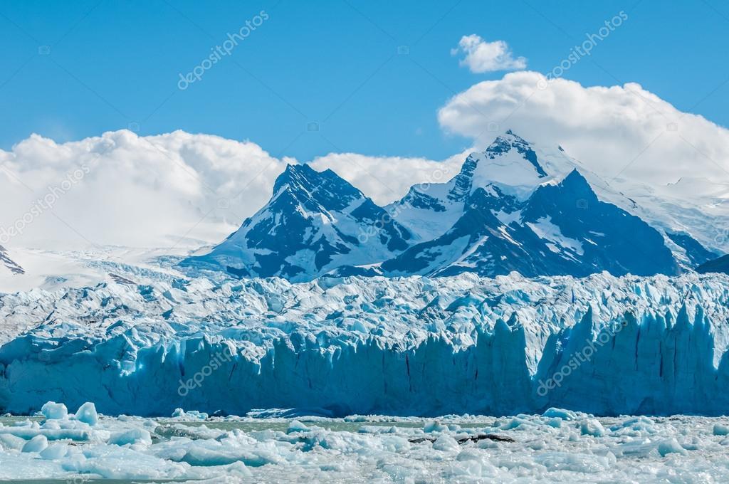 Blue ice of Perito Moreno Glacier