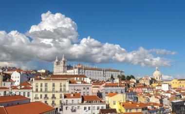 View of Lisbon and Monastery of Sao Vicente de Fora, Portugal