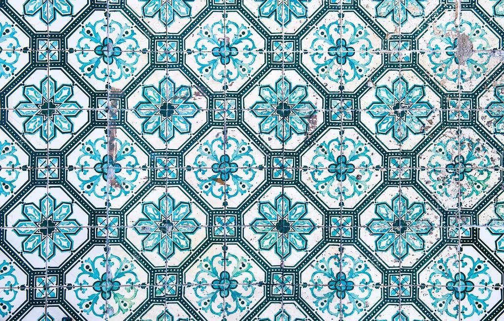 Azulejos Traditionelle Portugiesische Fliesen Stockfoto - Portugiesische fliesen kaufen