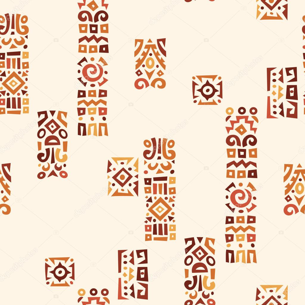 Background with elements of African ornament