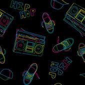 Fotografia modello senza soluzione di continuità di musica hip-hop