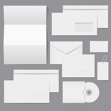 Blank Business Corporate Templates stock vector