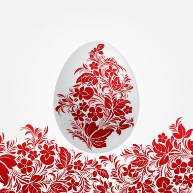 Easter red eggs design template